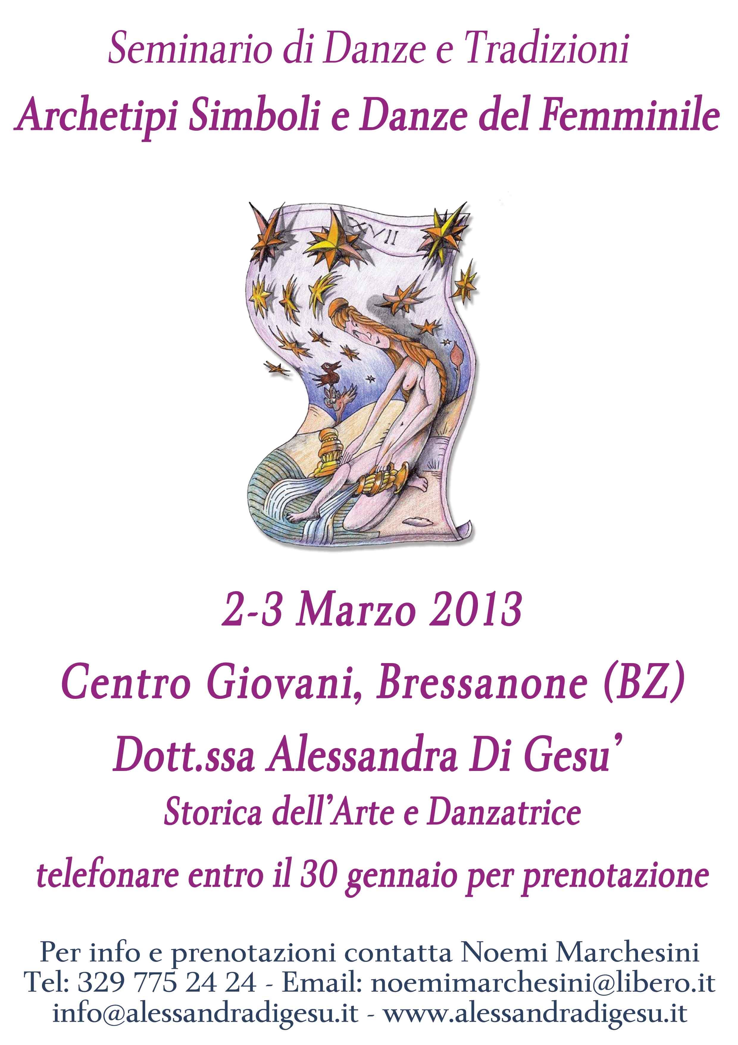 Seminario-Bressanone-Danze Sacre e Tradizioni- Alessandra Di Gesù