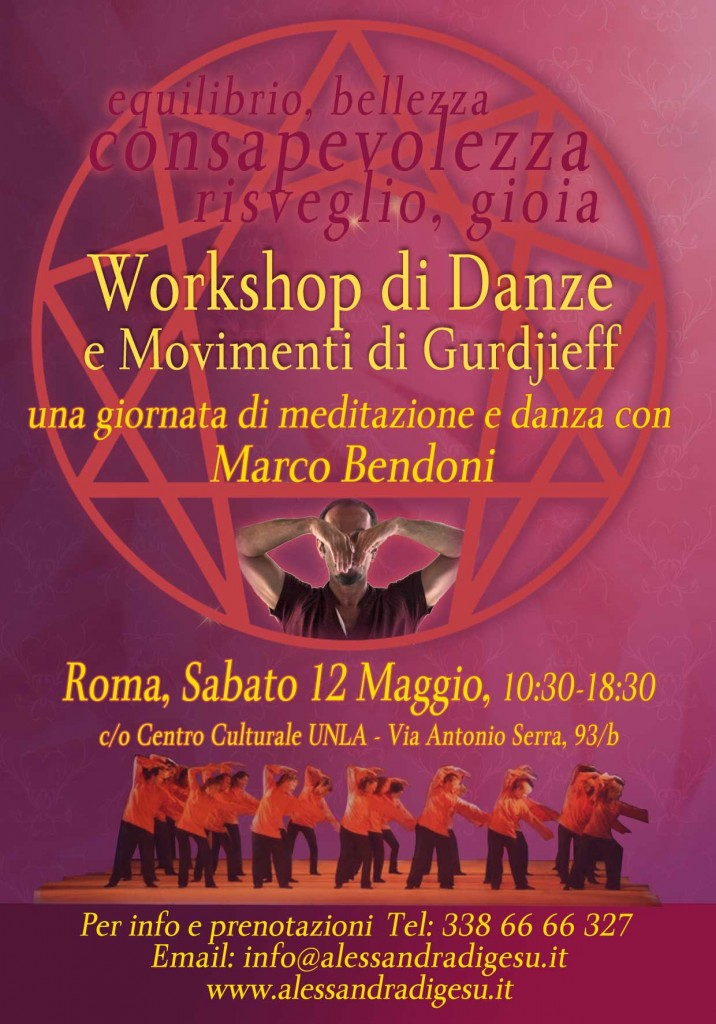 Workshop di Danze e Movimenti di Gurdjieff con Marco Bendoni