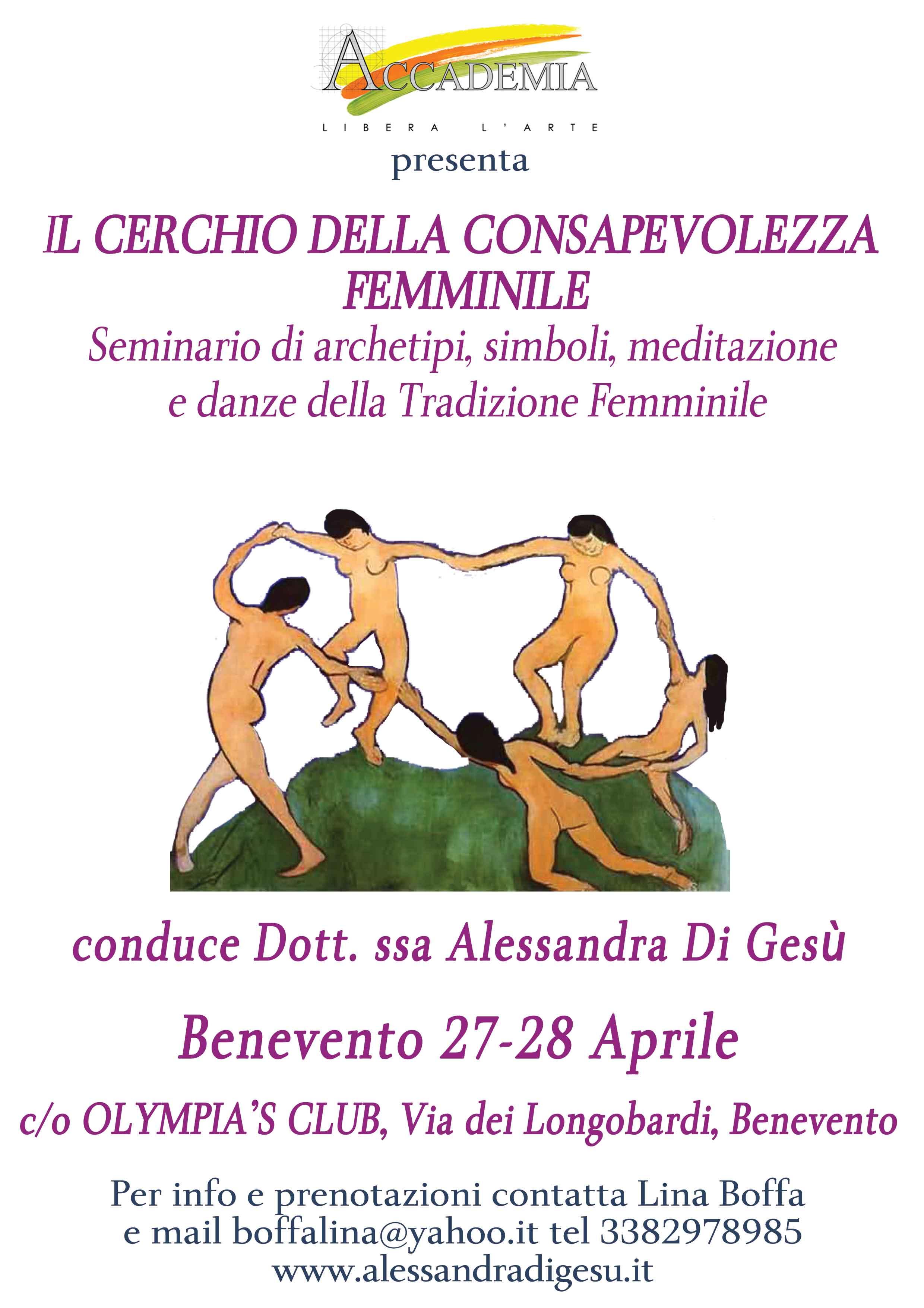 COnsapevolezza Femminile Seminario-Benevento