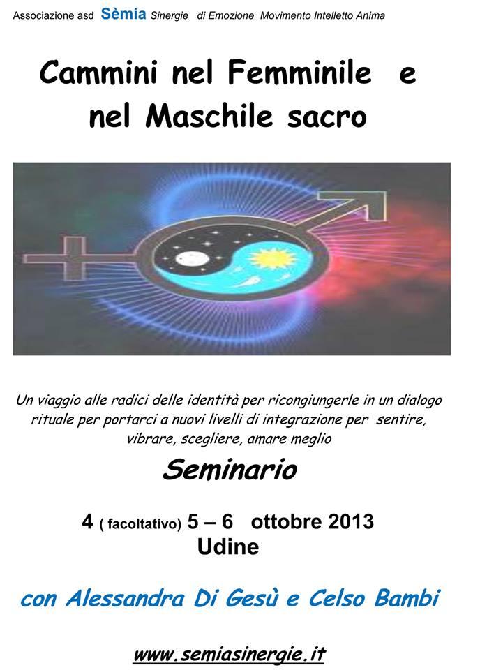 seminario udine 4 ottobre maschile femminile Alessandra Di Gesu